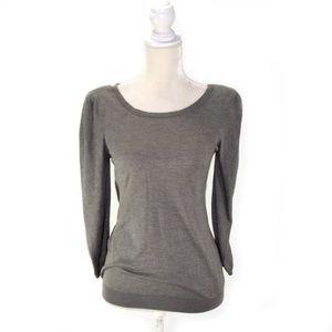 JOIE Gray Cashmere Silk Scoop Neck Sweater